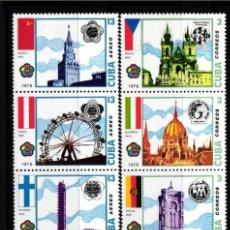 Selos: CUBA, AÉREO 1978 YVERT Nº 292 / 297,XI FESTIVAL MUNDIAL DE LA JUVENTUD Y LOS ESTUDIANTES, LA HABANA. Lote 178344845