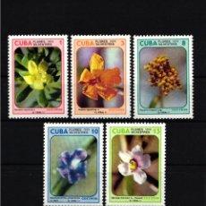 Selos: CUBA,1974 YVERT Nº 1794 / 1798 /**/, FLORES SILVESTRES. . Lote 178347658