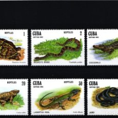 Selos: CUBA, 1982 YVERT Nº 2369 / 2374 /**/, REPTILES. Lote 178374826