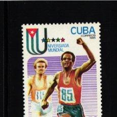 Selos: CUBA, 1985 YVERT Nº 2640 /**/, DEPORTES, ATLETISMO. . Lote 178380752