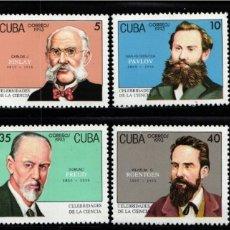 Sellos: CUBA, 1993 YVERT Nº 3287 / 3294 /**/, CELEBRIDADES DE LA CIENCIA . Lote 178389408