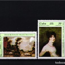 Selos: CUBA, AÉREO 1978 YVERT Nº 274 / 275 /**/ PINTURAS DEL MUSEO NACIONAL . Lote 178564058