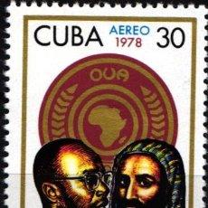 Selos: CUBA, AÉREO 1978 YVERT Nº 285 /**/ ANIVERSARIO DE O.U.A. . Lote 178567646