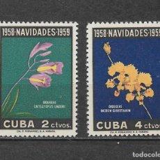 Sellos: CUBA 1958 ** NAVIDAD - FLORA - 6/23. Lote 179102652