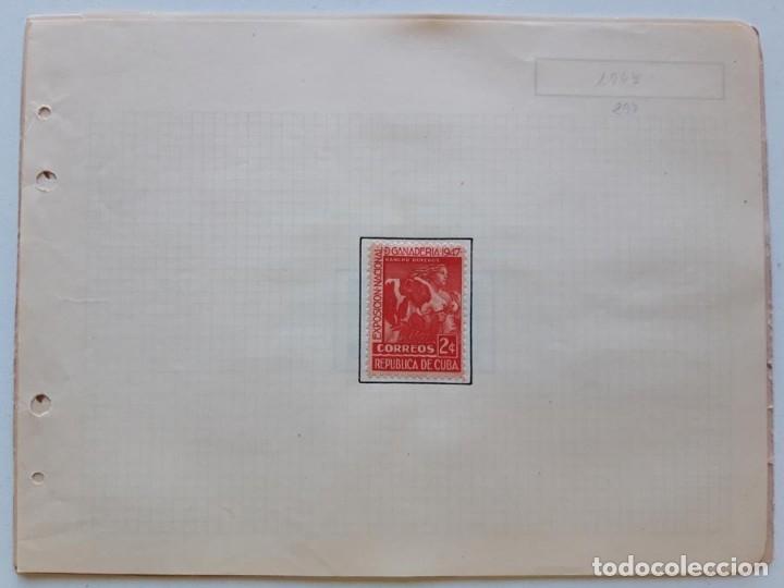Sellos: Cuba 2 hojas de Album con 4 sellos - Foto 3 - 179345338
