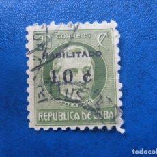 Sellos: CUBA* 1960, SELLO SOBRECARGADO YVERT 531. Lote 179789820