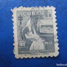 Sellos: CUBA 1957* SELLO DE BENEFICENCIA, YVERT 35. Lote 179838116