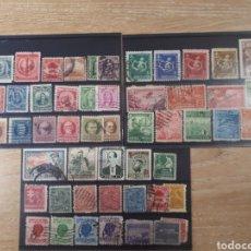 Sellos: 3 FICHAS CON SELLOS USADOS DE CUBA LOT.P67. Lote 181079311