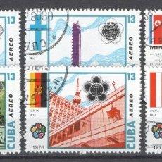 Sellos: CUBA, AEREO 1978.. Lote 181995342
