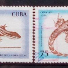 Sellos: CUBA REPTILES SERIE DE SELLOS USADOS USADOS. Lote 182162706