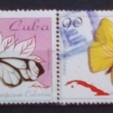 Sellos: CUBA MARIPOSAS SERIE DE SELLOS USADOS USADOS. Lote 182273877