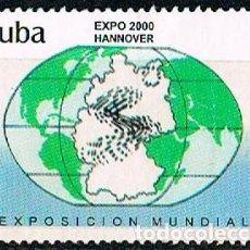 Sellos: CUBA Nº 4248, EXPO MUNDIAL HANNOVER 2000, USADO. Lote 184797650