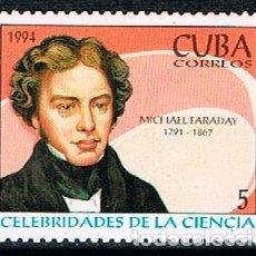 Sellos: CUBA Nº 3774, MICHAEL FARADAY, NUEVO SIN GOMA. Lote 184810533