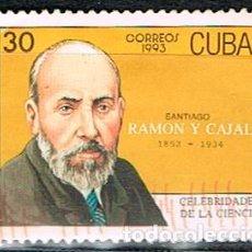 Sellos: CUBA 3681, SANTIAGO RAMON Y CAJAL, USADO. Lote 184850086