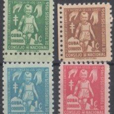 Sellos: 1956-346 CUBA REPUBLICA. 1956. ED.30-33. SEMIPOSTAL TUBERCULOSOS MNH.. Lote 185670373