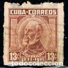 Sellos: CUBA Nº 418, CARLOS FINLAY, MEDICO Y CIENTIFICO HISPANO-CUBANO, USADO. Lote 185741550