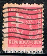 CUBA, PRO TUBERCULOSOS 1955, USADO (Sellos - Extranjero - América - Cuba)