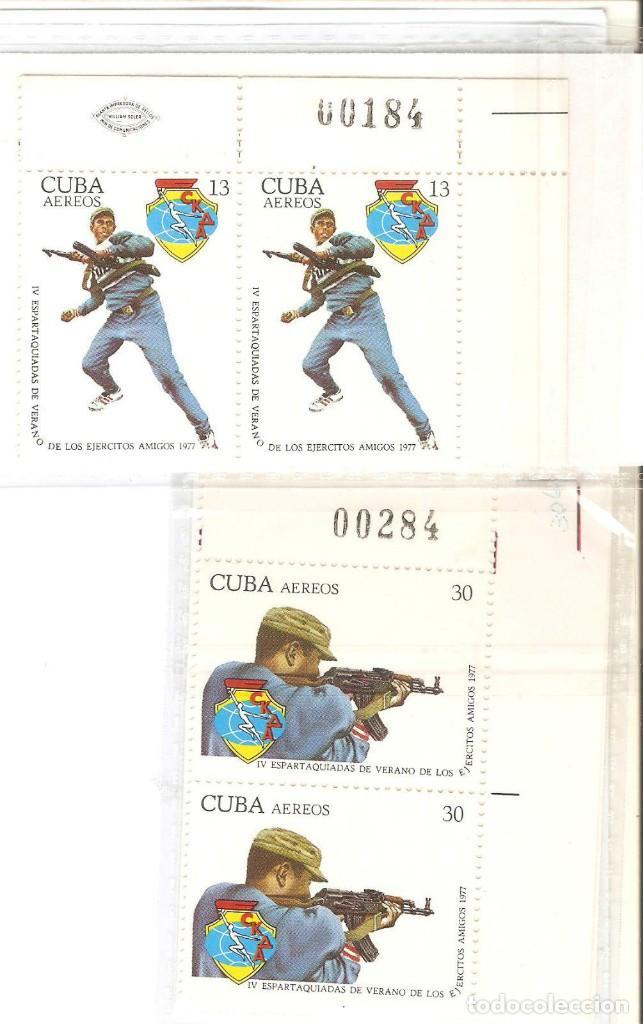 CUBA, 4 VALORES BLOQ 2,B.HOJA,Nº ANVERSO,YT PA 288/289, NUEVOS,G.ORIG.SIN FIJASELLOS. (Sellos - Extranjero - América - Cuba)