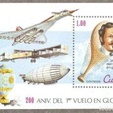 Sellos: CUBA,1983,CAT.MI BL.76,NUEVA,GOMA ORIGINAL,SIN FIJASELLOS.. Lote 186304347