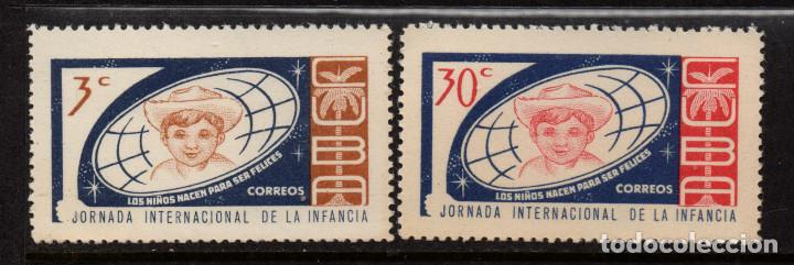CUBA 669/70** - AÑO 1963 - DIA INTERNACIONAL DE LA INFANCIA (Sellos - Extranjero - América - Cuba)