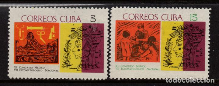 CUBA 962/63** - AÑO 1966 - 11º CONGRESO MEDICO (Sellos - Extranjero - América - Cuba)