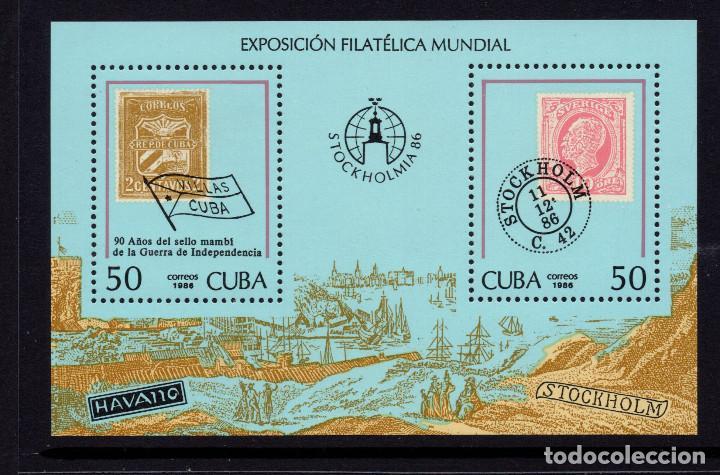 CUBA HB 95** - AÑO 1986 - STOCKHOLMIA 86, EXPOSICION FILATELICA INTERNACIONAL (Sellos - Extranjero - América - Cuba)