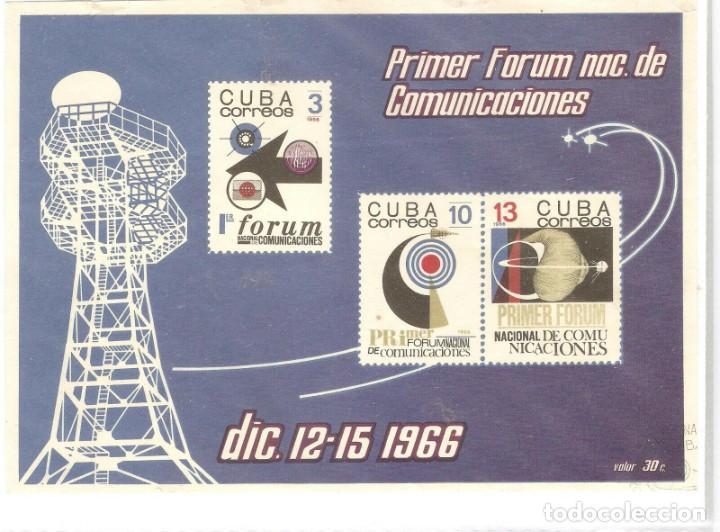 CUBA, HOJITA 1966,CAT.MI VALORES 1246/1248,SIN PERFORAR.SIN GOMA,SIN FIJASELLOS.PRESENTA DETE (Sellos - Extranjero - América - Cuba)