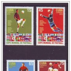 Sellos: 2010.15 CUBA MNH 2010 COMPLETE SET SOCCER WORD CUP. COPA MUNDIAL DE FUTBOL SUDAFRICA SOUTH AFRICA. Lote 206950787