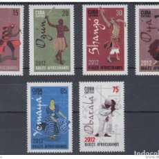 Selos: 2012.80 CUBA MNH 2012. RELIGION YORUBA, SANTERIA, OYA, OSHUN, OBATALA, OGGUN, YEMAYA, SHANGO, ELEGGU. Lote 226920205