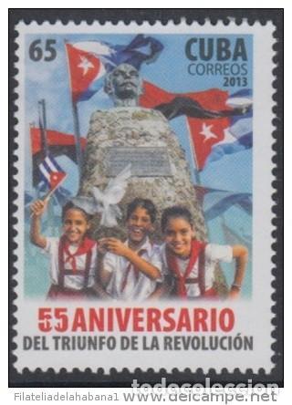 2013.122 CUBA 2013 MNH . 55 ANIVERSARIO DEL TRIUNFO DE LA REVOLUCION . (Sellos - Extranjero - América - Cuba)