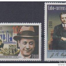 Sellos: 2008.11 CUBA MNH 2008. 120 ANIV DEL NATALICIO DE JOSE RAUL CAPABLANCA, AJEDREZ, SHESS.. Lote 253901000