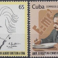 Sellos: 2005.318 CUBA MNH 2005. 75 ANIV VISITA ALBERT EINSTEIN A LA HABANA. FISICA CARICATURA.. Lote 234972845