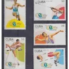 Sellos: 1992.15- * CUBA 1992. MNH. VI COPA DEL MUNDO DE ATLETISMO. ATHLETICS. COMPLETE SET.. Lote 188617731