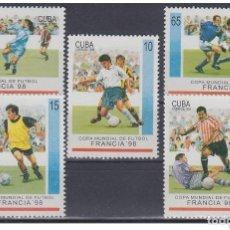 Sellos: 1998.90 CUBA MNH 1998. ED.4237-41 COPA MUNDIAL FUTBOL FRANCIA. FRANCE SOCCER CUP CHAMPIONSHIP.. Lote 206950783
