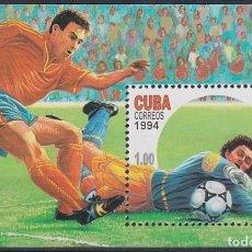 Sellos: 1994.248 CUBA MNH 1994 MNH ED.3888 HF SOCCER WORLD CUP US COPA MUNDIAL FUTBOL. Lote 206950780