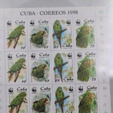 Sellos: CUBA, HOJA PLIEGO Y NUMERADO DE1998. Lote 189132677