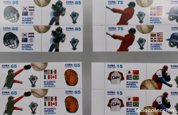 BÉISBOL BASEBALL.CLASIC WORD CUP 2013, SERIE COMPLETA (Sellos - Extranjero - América - Cuba)