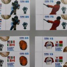 Sellos: BÉISBOL BASEBALL.CLASIC WORD CUP 2013, SERIE COMPLETA. Lote 189142278