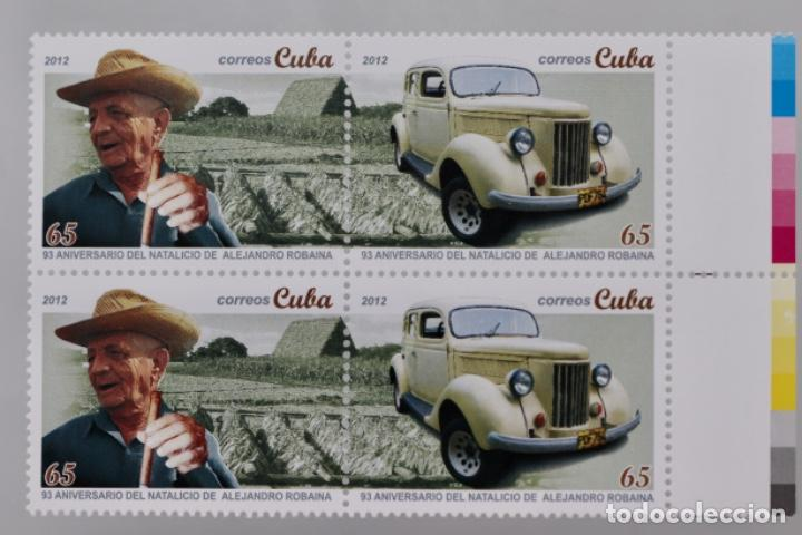 ANIVERSARIO NATALICIO DE ALEJANDRO ROBAINA 2012 (Sellos - Extranjero - América - Cuba)