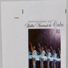Sellos: BALLET NACIONAL DE CUBA , SERIE COMPLETA 2018,MNH. Lote 189175000