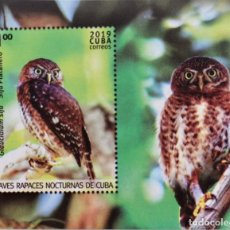 Sellos: AVES RAPACES NOCTURNAS CUBA 2019, MNH. Lote 189355158