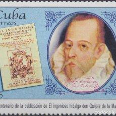 Francobolli: 2005.8 CUBA MNH 2005. 400 ANIV PUBLICACION DON QUIJOTE DE LA MANCHA. MIGUEL DE CERVANTES.. Lote 189449563
