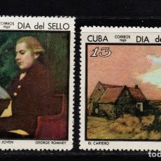 Sellos: CUBA 1272/73** - AÑO 1969 - DIA DEL SELLO - PINTURA. Lote 189771337