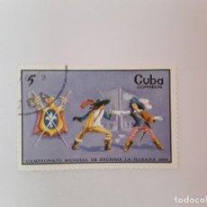 Sellos: CUBA SELLO USADO. Lote 190450028