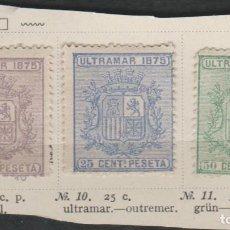 Sellos: LOTE 12-SELLOS CUBA 1875. Lote 191483737