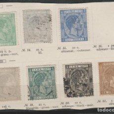 Sellos: LOTE 12-SELLOS CUBA 1876-77 ALFONSO XII. Lote 191483886