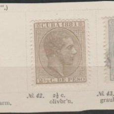 Sellos: LOTE 12-SELLOS CUBA 1881 ALFONSO XII. Lote 191485328