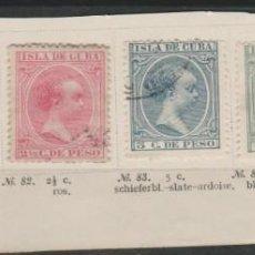 Sellos: LOTE 12-SELLOS CUBA 1896-97 ALFONSO III. Lote 191486321