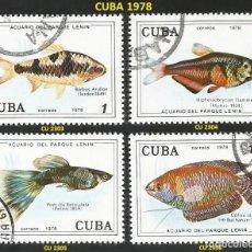 Sellos: CUBA 1978 - CU 2303 A 2306 - 4 SELLOS NUEVOS - TEMA PECES. Lote 194084903
