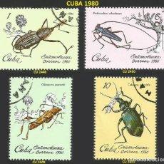 Sellos: CUBA 1980 - CU 2448 A 2451 - 4 SELLOS NUEVOS - TEMA INSECTOS. Lote 194085005